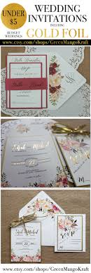 Gold Foil Wedding Invitations Rustic Invitation Suite Blush Pink Watercolor Floral