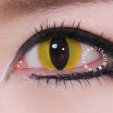 cat contacts buy geo animation yellow cat eye contact lenses eyecandys