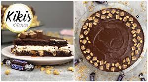 leckere snickerstorte einfaches rezept snickers torte mit marshmallow fluff erdnuss karamell