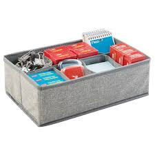 Staples Office Desk Organizer by Amazon Com Mdesign Fabric Desk Drawer Storage Organizer For
