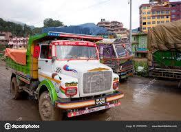 100 Most Popular Trucks Kathmandu Nepal July 2018 Colorful Decorated Nepalese
