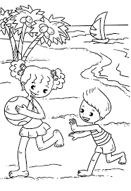Printable Beach Coloring Pages Me Free For Kids Modern Home Decor Walmart