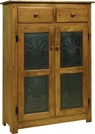 Pine Wood Pie Safe with Tin Doors from DutchCrafters Amish Furniture