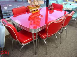 100 Red Formica Table And Chairs COOL Retro Dinettes 1950s Style Canadian Made Chrome Sets