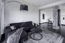 wohnzimmer und küche in offener raum moderne wohnung