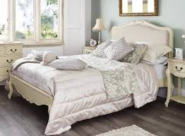 Shabby Chic Champagne Upholstered 6FT Super King Bed