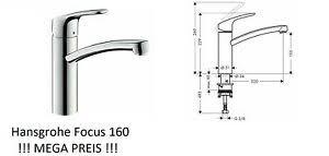 details zu küchenarmatur hansgrohe focus160 wasserhahn küche ohne schlauchbox 360 schwen