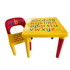 Kids Table And Chair Set Wood Children Wooden Study Bedroom Play ...