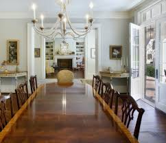 Ethan Allen British Classic Table Dining Room Traditional With Chandelier Distressed Standard Height Tables