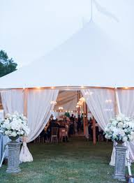 Glamorous Tent Wedding Entrance Leila Brewster Photography