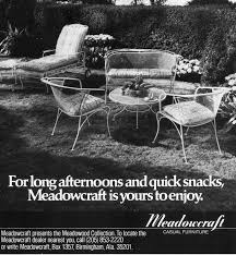 Meadowcraft Patio Furniture Glides by 255 Best Vintage Advertising Wrought Iron Patio Furniture Images