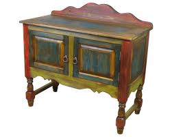 Rustic Painted Wood Mexican Furniture Antique