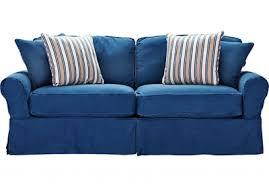 cindy crawford home beachside blue denim sofa online interior