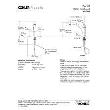 Kohler Forte Kitchen Faucet Leaking by Kohler Faucet K 10433 Bn Forte Vibrant Brushed Nickel Pullout