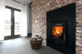 Contemporary Brick Fireplace Modern Brick Wall Fireplace