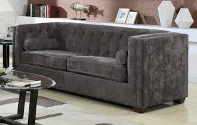furniture modern tufted sofa contemporary loveseats silver