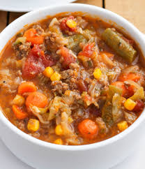 Ground Beef And Cabbage Soup Is A Quick Easy Vegetable Thats Perfect For Using Up Extra Garden Vegetables