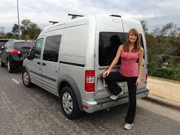 Women Travels The USA By Converting A Ford Transit Connect Into Camper