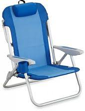 nautica beach chair 5 position patio outdoor fabric seat recliner