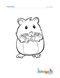 Does Your Kids Love Enjoy Keeping This Cute Looking Endearing Hamster As Pet Animal Then Give Them These Amazing Free Printable Coloring Pages