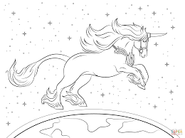 Beautiful Unicorn Coloring Page Realistic Pages