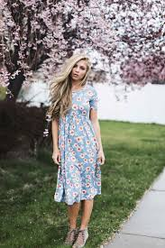 powder blossom midi dress fashion street styles casual wear and