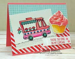 100 Cupcake Truck Taco Ice Cream Patty Stamps