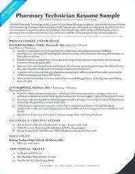 Pharmacy Technician Resume Sample Example Certified