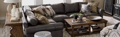 Brown Couch Living Room Design by Shop Sectionals Leather Living Room Sectionals Ethan Allen
