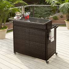 Sears Patio Furniture Ty Pennington by Ty Pennington Style Parkside Woven Bar Cart Shop Your Way