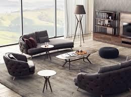 casa padrino luxus chesterfield 3 sitzer sofa grau braun 240 x 95 x h 85 cm wohnzimmer sofa wohnzimmer möbel