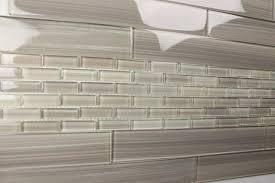 gray glass tile kitchen backsplash