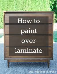 How to Paint over Laminate and why I love furniture with laminate