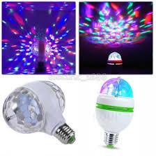 3w 6w e27 rgb rotating led stage light bulbs disco