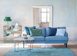 Kivik Sofa Cover Uk by Shades Of Blue Ikea Stocksund 3 Seater Sofa Cover In Steel Blue