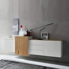 contemporary design wall mounted sideboard white by