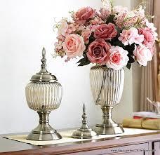 2x luxus glas vase wohnzimmer tisch dekoration