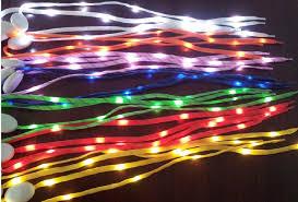 best 2014 newest led l shoe lace fiber optic