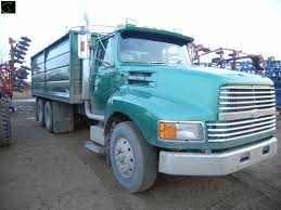 1993 Ford LTL 9000 Aeromax Tandem Grain Truck, 350 Cat Eng, 13 ...