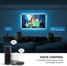 smart tv led licht streifen sprachsteuerung app steuerung 16 millionen farben 8 leuchtmodi farbwechsel mit und home kompatibel