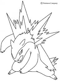 Typhlosion Pokemon Coloring Page More Fire Sheets On Hellokids