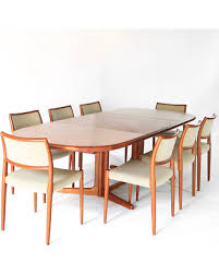 Mid Century Danish Modern Dining Set Niels Mller And E Valentinsen 8 Chairs Table