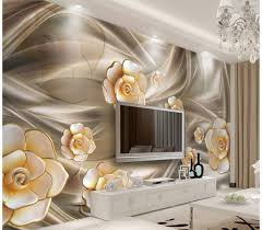 gold peony floral wallpaper mural floral gold mural peony
