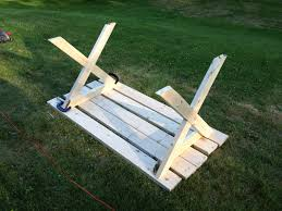 plans for a picnic table with separate benches dorothy justice blog