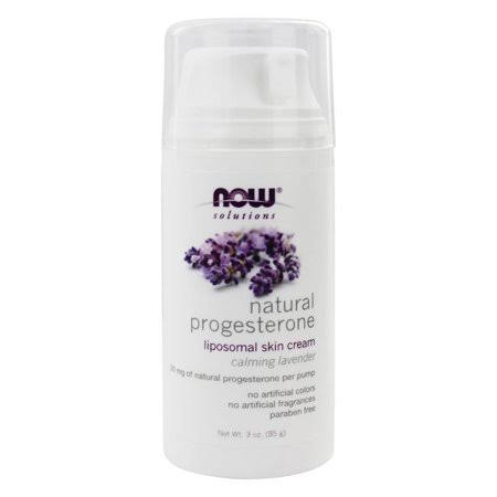 Now Natural Progesterone Liposomal Cream - Calming Lavender, 85g