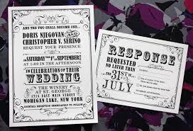 Poster Style Wedding Invitations