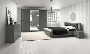 schlafzimmerset soro bett kommode schrank schlafzimmerkomplett grau led 13 ebay