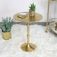 rund gold beistelltisch kunst deko modern vintage