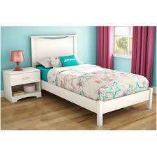 Bedroom Grey Upholstered Platform Bed