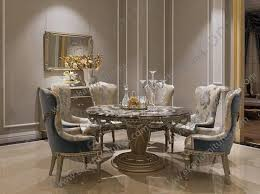 Wooden Dining Table And Chairs Luxury Room Sets Marble Tables High End Rooms